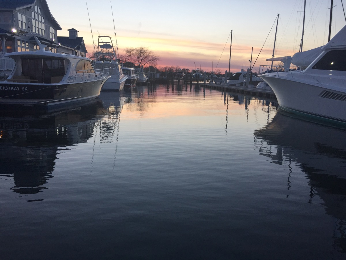 Little Cold Outside but We Always Have a View at Bluewater YachtingCenter