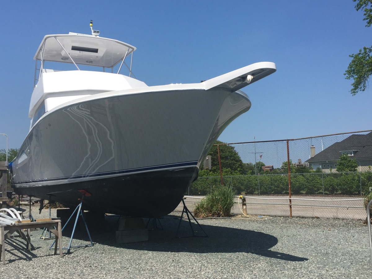 "43 Viking ""Don't Panic"" Gets a Facelift at Bluewater Yacht Yards"