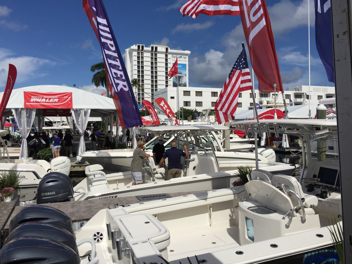 Jupiter Marine Display at 2016 Ft. Lauderdale International Boat Show